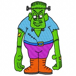 Frankensteins Monster embroidery design