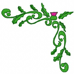 Thistle Corner embroidery design