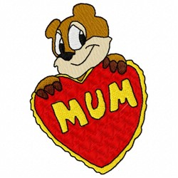 Mum Valentine embroidery design