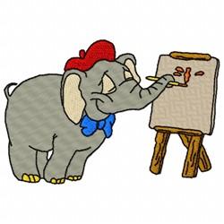 Artistic Elephant embroidery design