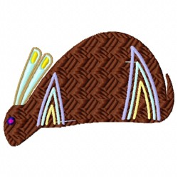 Desert Rabbit embroidery design