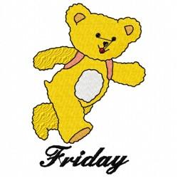 Friday Teddy Bear embroidery design