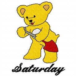 Saturday Teddy Bear embroidery design