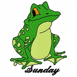 Sunday Frog embroidery design