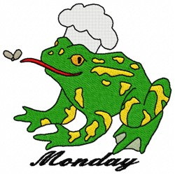 Monday Frog embroidery design