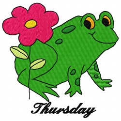 Thursday Frog embroidery design