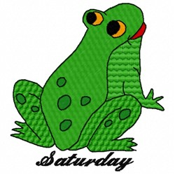Saturday Frog embroidery design
