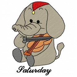 Saturday Elephant embroidery design