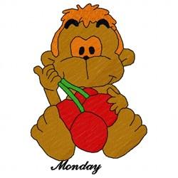 Monday Monkey embroidery design