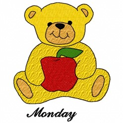 Monday Teddy Bears embroidery design