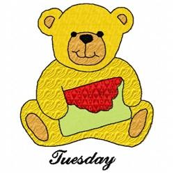 Tuesday Teddy Bear embroidery design