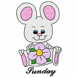 Sunday Mouse embroidery design