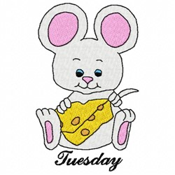 Tuesday Mouse embroidery design