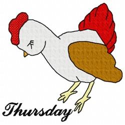 Thursday Chicken embroidery design