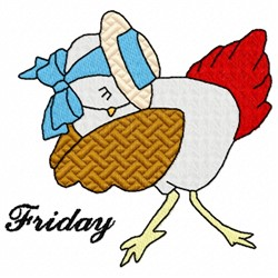 Friday Chicken embroidery design