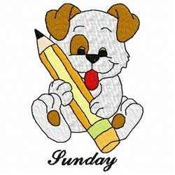 Sunday Dog embroidery design