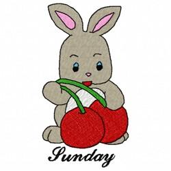 Sunday Bunny embroidery design