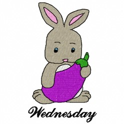 Wednesday Bunny embroidery design