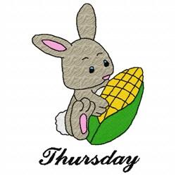 Thursday Bunny embroidery design