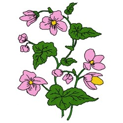 Begonias embroidery design
