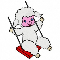 Swinging Lamb embroidery design