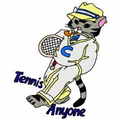 Tennis Anyone embroidery design