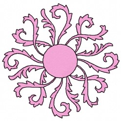 Swirl Leaves embroidery design