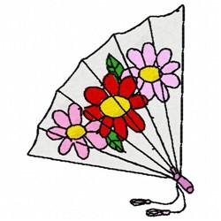 Flower Fan embroidery design