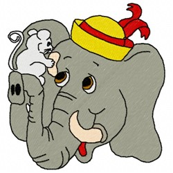 Elephant Mouse embroidery design