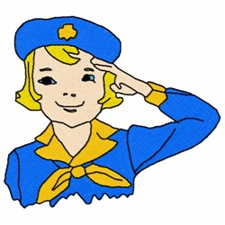 Girl Scout embroidery design