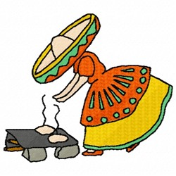 Mexican Girl embroidery design
