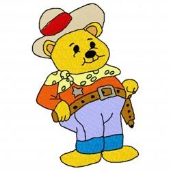 Bear Cowboy embroidery design