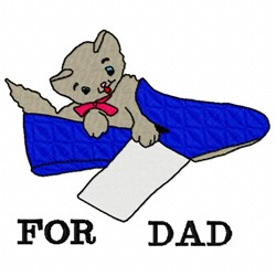 For Dad embroidery design