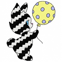 Cat Balloon embroidery design