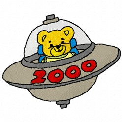 Saucer 2000 embroidery design