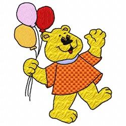 Bear Balloon embroidery design