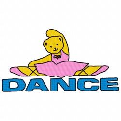 Dance Bear embroidery design