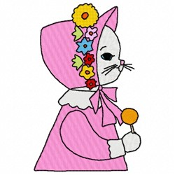 Lolly Cat embroidery design