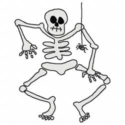 Halloween Skeleton embroidery design