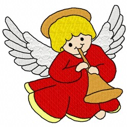 Angel And Horn embroidery design
