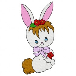 Cute Rabbit embroidery design