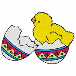 Chicken In Egg embroidery design