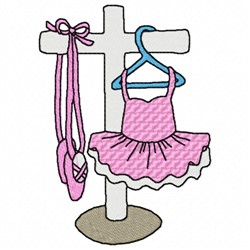 Ballet Tutu And Shoes embroidery design