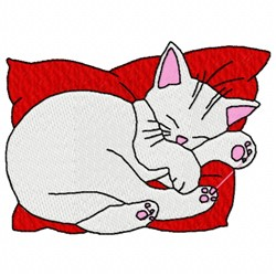 Napping Cat embroidery design