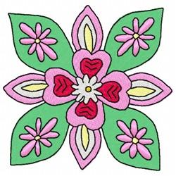 Flower Art embroidery design