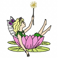 Fairy In Flower embroidery design