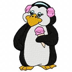 Penguin And Ice Cream embroidery design