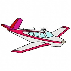 Charter Plane embroidery design