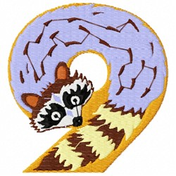 Animal Number 9 embroidery design