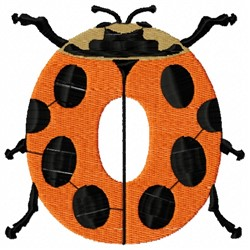Animal Number 0 embroidery design